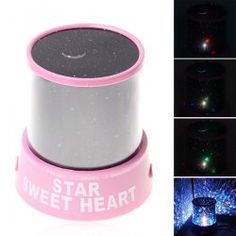 $3.56 Special LED Projection Light Electronic Star Beauty Gift Lamp for Christmas 2012 -Pink