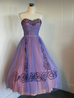 purple prom dress 1950s