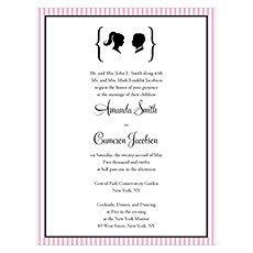 Sweet Silhouettes Invitation