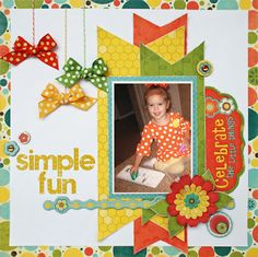 Created by one of the talented Imaginisce Designers using the Hello Cupcake collection!! WWW.HappyNScrappin.com