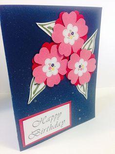 Birthday Navy flower greeting card