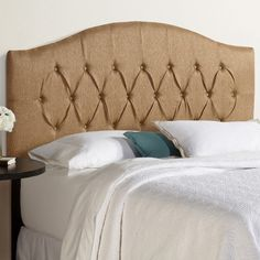 Found it at Wayfair - Kara Arched Upholstered Panel Headboard