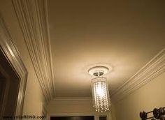 Image result for ceiling molding Ceiling Trim, Ceiling Lights, Light Bulb, Chandelier, Lighting, Image, Home Decor, Candelabra, Decoration Home