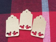Die Cut Two Squirrels Tag by NatureCuts on Etsy