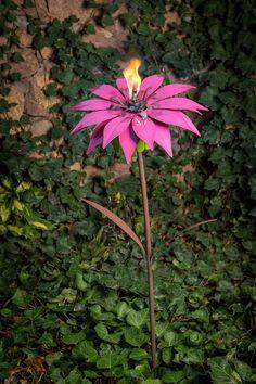 Amazon.com : Desert Steel 409-002 Bishop Dahlia Garden Torch, 36-Inch : Patio, Lawn & Garden