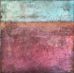 Abstract landscape in teals and pinks with pearlescent pigments Teal And Pink, Abstract Landscape, Hardwood Floors, Art Pieces, Texture, Painting, Wood Floor Tiles, Surface Finish, Wood Flooring