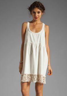 FREE PEOPLE Linen Babydoll Dress in Ivory - Free People