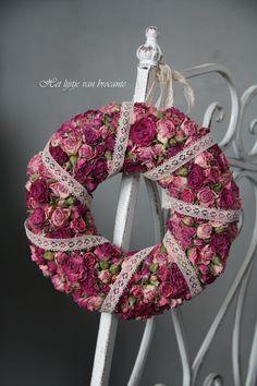 My homemade rose wreath.