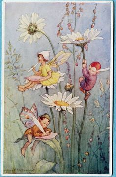 Margaret Tarrant postcard | eBay....Her art work seems to be copied from Cecily Mark Barker