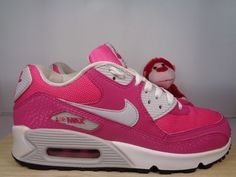 1c2b3521205975 Kids Nike Air Max 90 Vivid Pink 345017-600 Basketball shoes size 6.5  Nike   Athletic