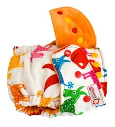 6- goodmama Fitted Diapers:  Absorbent organic bamboo/cotton fleece, lining of soft and silky organic cotton/bamboo velour. Snap-in soaker is organic cotton/bamboo velour + 2 layers organic bamboo/cotton fleece sewn together to another soaker of the same construction. A soft and squishy diaper that is nine layers thick, constructed to wash clean and dry quickly. No doublers necessary! Fits 10-35+ pounds.  The Newborn diapers are AMAZING too!  #clothdiapers #nopins