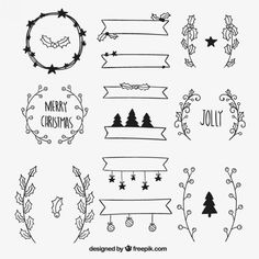 More than a million free vectors, PSD, photos and free icons. Exclusive freebies… More than a million free vectors, PSD, photos and free icons. Exclusive freebies and all graphic resources that you need for your projects Christmas Doodles, Christmas Drawing, Christmas Sketch, Christmas Design, Christmas Art, Christmas Icons, Etsy Christmas, Christmas Pictures, Bullet Journal Christmas