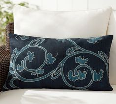 Larkin Indoor/Outdoor Lumbar Pillow | Pottery Barn