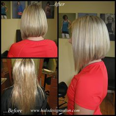 Long A-Line By Amber Hall. Halo Designs Salon.