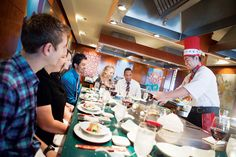 Dining is a memorable experience at the Teppanyaki specialty restaurant!