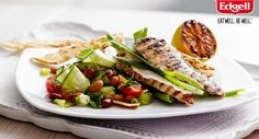 Barbecued Chicken with Minted Tomato Salad +1 Edgell Four Bean Mix