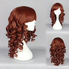 Fei-show Inclined Bangs Hair Synthetic Heat Resistance Fiber Dark Brown Short Curly Children Wigs For 50cm Head Circumference Latest Technology Synthetic None-lacewigs