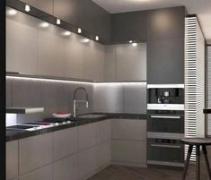 33 Gorgeous Modern Kitchen Cabinet You Can Copy Now - If you want to rebuild your kitchen, then you must pay an extra attention towards the kitchen cabinets. The old kitchen cabinets you had may have gott. Kitchen Room Design, Luxury Kitchen Design, Contemporary Kitchen Design, Kitchen Cabinet Design, Luxury Kitchens, Home Decor Kitchen, Kitchen Layout, Interior Design Kitchen, Home Kitchens