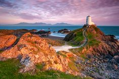 Ty-Mawr Lighthouse Llanddwyn Island Anglesey North Wales at sunset light.Landscape Photography of North Wales, Landscape photography prints, wall-art for sale North Wales. Best Landscape Photography, Scenery Photography, Mountain Photography, Landscape Photographers, Landscape Wallpaper, Landscape Prints, Landscape Photos, Landscape Design, Sunset Landscape