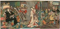 豊原国周  1858_相馬良門古寺之図