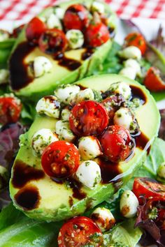 Caprese Stuffed Avocados on Closet Cooking