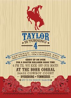 Cowboy Invitation