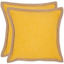"Sweet Sorona Pillows - Yellow 18"" (Set)"