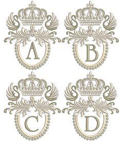 Applique Designs, Quilting Designs, Machine Embroidery Designs, Monogram Towels, Monogram Letters, Free Monogram, Family Crest Symbols, Monogram Tattoo, Stitch Delight