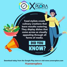 Chat to a live career counsellor about your study options after school today 🤩  Download the CareerXplora App from Google Play Store or chat to us on WhatsApp: 063 704 3030 #careerguidance #careerxplora #careerhelp #foodstyling #foodstylist #subjectchoices School Today, After School, Career Help, Discover Yourself, Food Styling, Google Play, Did You Know, Stylists, Study