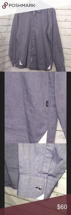 "Hugo Boss Regular Fit Button Down Shirt Hugo Boss Regular Fit Button Down Shirt  Great Condition  Measurements Chest 21.5"" Sleeve 25.5"" Shoulder 18"" Length 29.5"" Hugo Boss Shirts Casual Button Down Shirts"