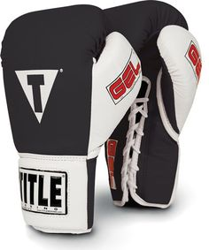 Title Gel World Training Gloves Lace mma muay thai boxing fight gear fighting  #TITLE