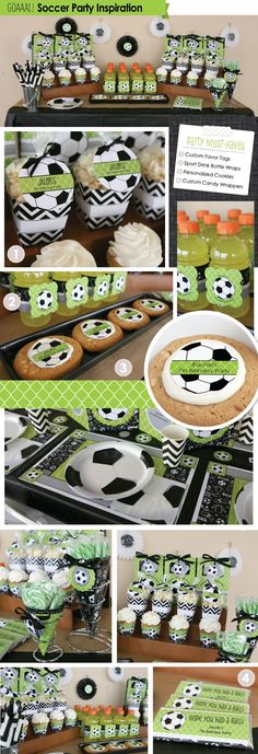 Ideas para celebrar fiesta de niños - tema futboll ✿⊱╮