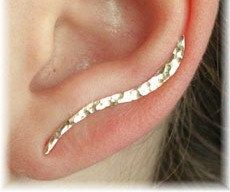 Ear Pin  Hand Hammered Wave  14K Gold Filled or by ChapmanJewelry, $36.00