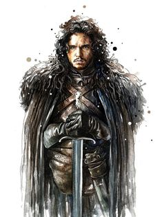 Game of Thrones Illustrations - Created by Nazar Stefanovic Arte Game Of Thrones, Game Of Thrones Poster, Fantasy Illustration, Graphic Design Illustration, Arya Stark Season 7, Game Of Thrones Illustrations, John Snow, Fantasy Heroes, Snow Art