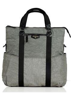 TWELVE little - Unisex 3-in-1 Foldover Diaper Tote Bag in Grey