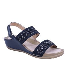 5383dbf07a7 Take a look at this Black Floral-Cutout Wedge Sandal - Women today!