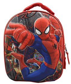 Marvel Spiderman Kids Insulated Domed Shaped 3D Pop Out Lunch Box @ niftywarehouse.com #NiftyWarehouse #Spiderman #Marvel #ComicBooks #TheAvengers #Avengers #Comics