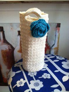Let's Party...... Crochet Wine Bottle Tote