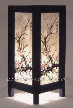 Asian Oriental Table Desk Lamp Decor Lighting Cherry Blossom Tree | eBay