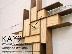KAY9-2TONE ASH (壁掛時計/ウォールナット/ホワイトアッシュ/:8117:espritライフスタイルストア - Yahoo!ショッピング - ネットで通販、オンラインショッピング