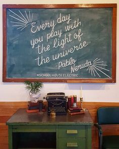"""""""Every day you play with the light of the universe"""" - Pablo Neruda #almostspring #schoolhouseelectric"""