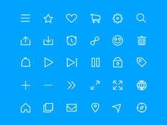 Minimal Line Icon Set Sketch Freebie