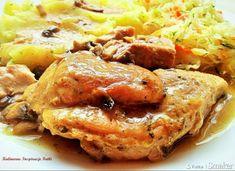 Szynka wieprzowa w sosie pieczarkowym