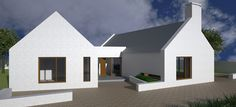 Modern Bungalow House Plans, Modern Barn House, Bungalow Exterior, Bungalow House Design, Dormer Bungalow, House Designs Ireland, Cottage House Designs, Brick House Plans, Small House Plans