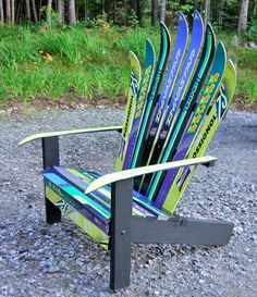 Superbe Ski Chair Garden Chairs, Adirondack Chairs, Upcycled Furniture, Deck  Furniture, Furniture Design