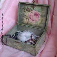 """Купить Шкатулка """"Аромат летних роз"""" (продано) - большая шкатулка, шкатулка, художественный декупаж, розы"""