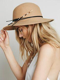 quill felt hat - free people Sombreros c12388749d3