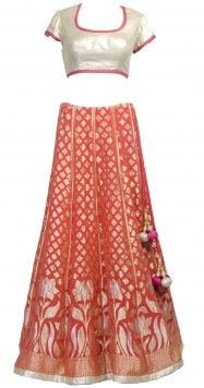 Banarasi Silk Lehega by SVA - can be made by Silk Sari