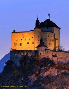 Tarasp Castle,  Lower Engadin, Graubünden, Switzerland...    www.castlesandmanorhouses.com    ...   Located in the Romansh speaking area of Switerland, on a hill top near Tarasp, it is a Swiss heritage site of national significance. Locally it is known as Chastè da Tarasp, (Schloss Tarasp in German.