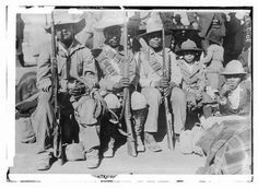 Photo: General Francisco 'Pancho' Villa's men entraining,March 1914,Mexican Revolution